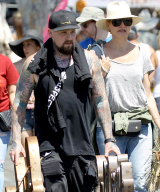 Cameron Diaz and Benji Madden Demo Their Cool Couple Style at L.A. Flea Market