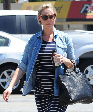 Pregnant Katherine Heigl Steps Out in a Relaxed Bump-Hugging Number