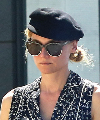 Diane Kruger Reunites with Joshua Jackson While Wearing a Summery Anchor-Print Romper