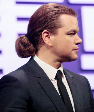 Behold: Matt Damon's Man Bun Is Back