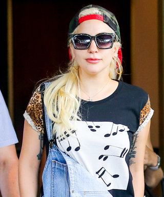 Lady Gaga Rocks Leopard-Print Pieces with Denim Overalls