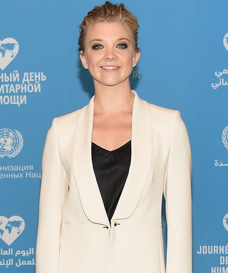 Natalie Dormer Perfects Her Power Stance in a Chic White Suit