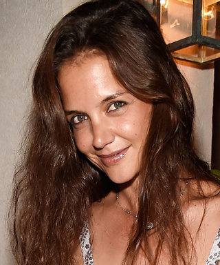 Katie Holmes Is Pretty in Paisley in the Hamptons