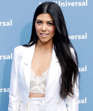 See Kourtney Kardashian's Vintage Style in Her Late Father's Old Football Shirt