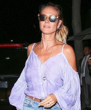 Heidi Klum Sizzles in Summery Boho Ensemble While Enjoying Family Dinner with Kids