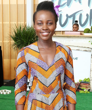 Lupita Nyong'o Stuns in Geometric Dress at Pre-VMAs Party
