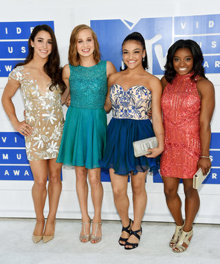 The U.S. Women's Gymnastics Team Swaps Their Leotards for Dazzling Gowns at the 2016 VMAs