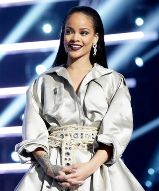 Rihanna Slays in an Olive Fringed Jumpsuit at a VMAs After-Party with Drake