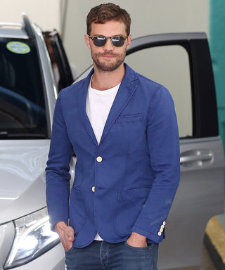 "Jamie Dornan Looks Hotter Than Ever in London, Says He's ""More Comfortable"" Now Playing Christian Grey"
