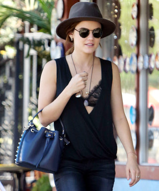 Lucy Hale Artfully Exposes Her Lacy Bralette While Grabbing Breakfast in L.A.