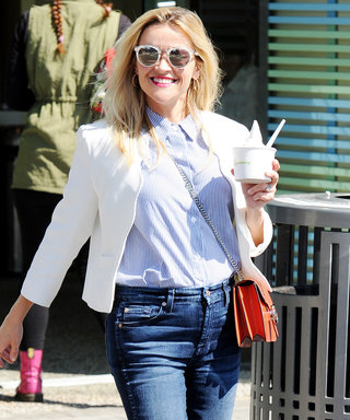 Reese Witherspoon Makes a Froyo Run in Cropped Kick-Flare Jeans