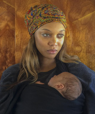 Tyra Banks Strikes a Fierce Pose with Baby York's Stroller