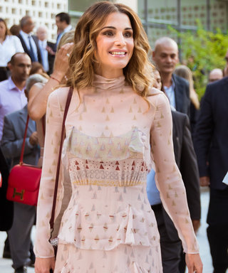 Queen Rania of Jordan Kicks Off Her 46th Birthday in a Dazzling Valentino Dress