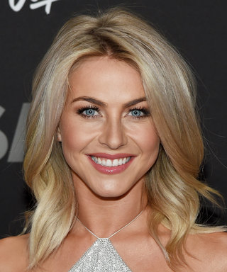 Julianne Hough Flaunts Her Toned Dancer's Legs in a Relaxed Monogrammed Chambray Romper