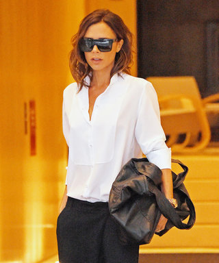 Victoria Beckham Swaps Her Stilettos for Flat Sandals in a Chic Androgynous Look