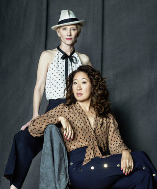 We're Obsessed with Sandra Oh's Wide-Leg Trousers—and They're Only $99