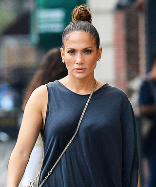 Jennifer Lopez Wears Breezy Black Dress and Studded Flat Sandals for N.Y.C. Lunch Date