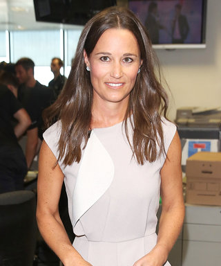 Pippa Middleton Shows Off Her Fit Physique in Chic Gray Jumpsuit at Charity Event