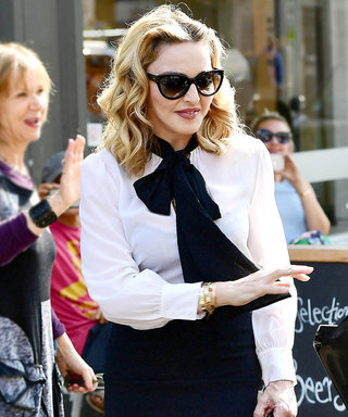Madonna Is Perfectly Prim and Proper as She Visits Her Son's London School