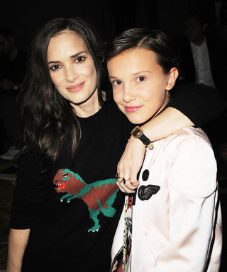 Winona Ryder and Millie Bobby Brown Have a Stranger Things Reunion at the Coach Spring 2017 Show