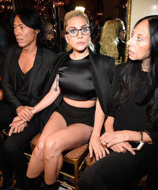 Lady Gaga Takes a Crop Top and Shorts to New Heights at Brandon Maxwell's NYFW Show
