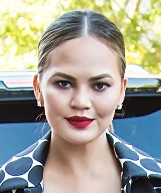 Chrissy Teigen's Outfit for Michael Kors's NYFW Show Is Literally Spot-On