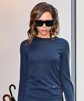 Victoria Beckham Kicks Off London Fashion Week with in Monochromatic Navy