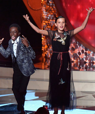 "Stranger Things Kids Perform Adorable Rendition of ""Uptown Funk"" During Emmys Preshow"