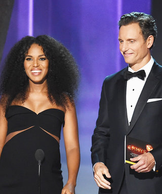 """Pregnant Kerry Washington and Tony Goldwyn Have a """"Situation"""" Onstage at the 2016 Emmys"""