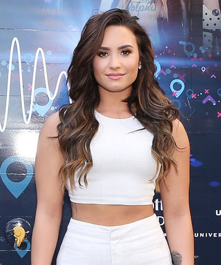 Demi Lovato Shows Off Her Super Fit Physique in White Hot Crop Top and Flare Trousers