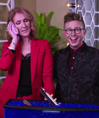Watch Celine Dion Smooch Tyler Oakley Then Jokingly Reassure Her Late Husband Through a Seashell