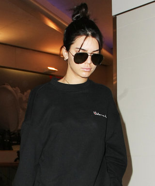 Kendall Jenner Proves Black Is the New Black at LAX