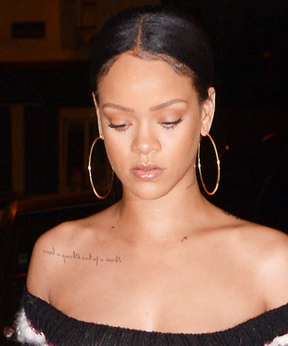 Rihanna Pairs a Puffer Coat with an Ab-Baring Bandeau Top and We're Digging It
