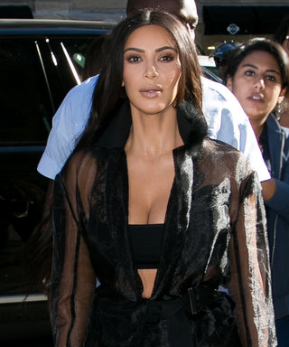 Kim Kardashian West's First Paris Fashion Week Look Is Sheer, Obviously