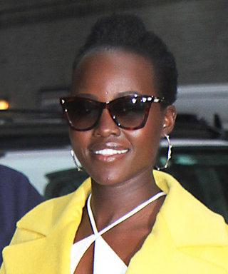 Lupita Nyong'o Brightens Up a Gloomy Day with a Sunny Yellow Coat Ahead of Late Show Appearance