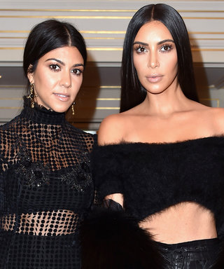 Kim Kardashian West and Kourtney Kardashian Are Style Twins in Abs-Baring Outfits During PFW