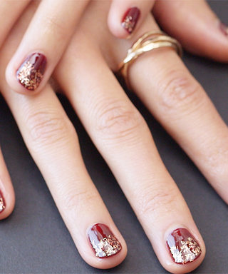 Nail Art Know How: Glittering Berry Tips