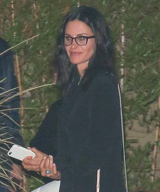Courteney Cox Shows Off Her Svelte Frame in Chic LBD for Girls' Night Out