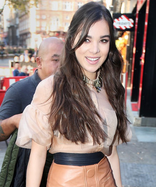 Hailee Steinfeld Turns Heads in a Sheer Top and Leather Mini Skirt in London