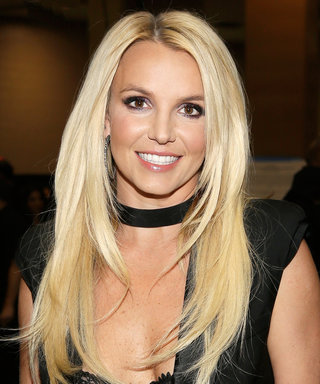 Britney Spears Stands on Her Boyfriend's Shoulders in a Tiny Bikini