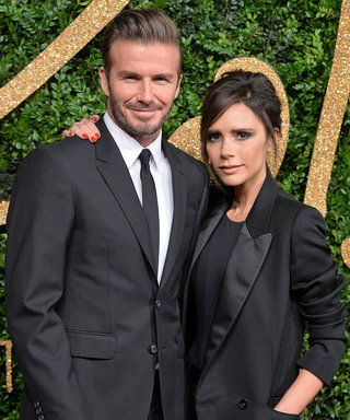 David Beckham Poses with His and Victoria Beckham's Wax Figures in London