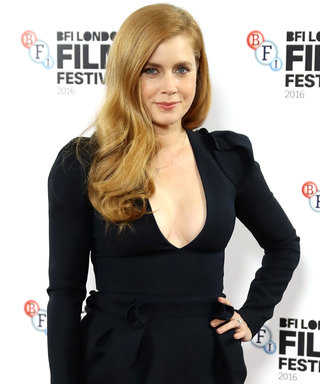 Amy Adams Drops Jaws in a Sexy Plunging LBD at the BFI London Film Festival