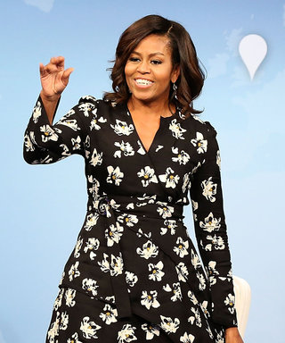 Michelle Obama Glows in a Pretty Floral Dress at Empowering Let Girls Learn Event
