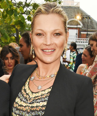 Kate Moss Makes This Adorable Dinosaur Print Sweater an Official Hollywood Trend