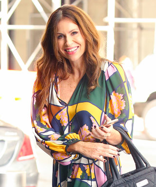 Minnie Driver Goes for the Bold in a Colorful '70s-Inspired Maxi Dress