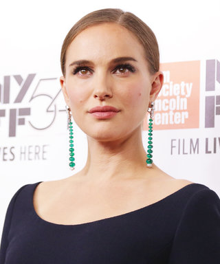 Natalie Portman Perfectly Embodies Jackie Kennedy's Elegance in a Navy Dior Dress