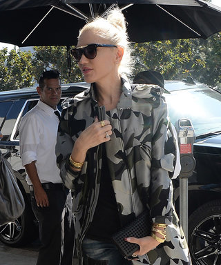 Gwen Stefani Is Cool in Camo on Lunch Date with Blake Shelton