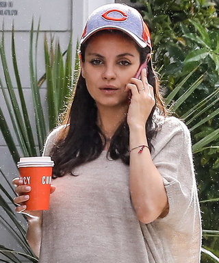 Mila Kunis Dresses Her Baby Bump in the Perfect Fall-Ready Poncho and Jeans