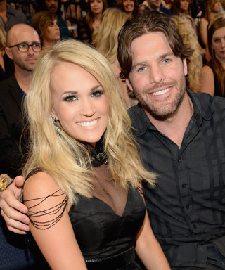 "Carrie Underwood Slays in a Metallic Minidress with Her ""Handsome Hunk"" at CMT Artists of the Year Event"