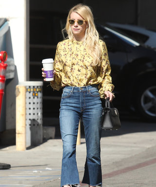 Emma Roberts Gives Her L.A. Style a Sunny Boost with a Delicate Floral Blouse